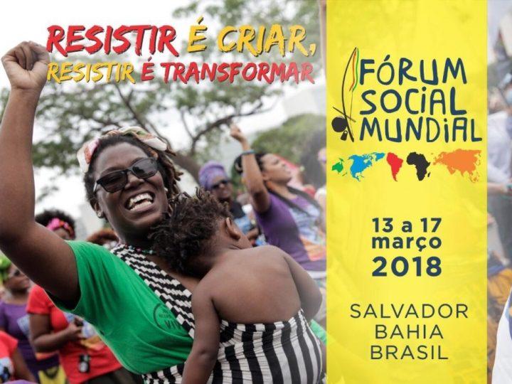 Resistência é tema do Fórum Social Mundial em Salvador