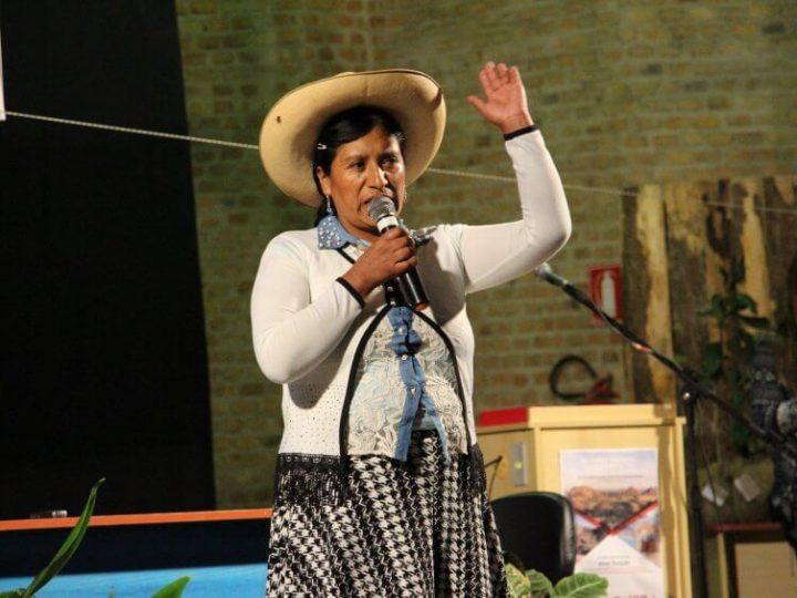 Em visita ao Brasil, Campesina de Cachamarca (Peru) relata dramas da mineração na América Latina
